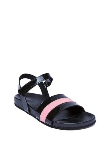 Mandel Sandalen zwart/lichtroze