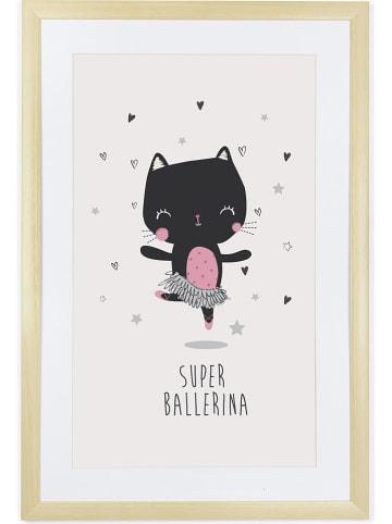 "Tanuki Ingelijste afbeelding ""Super Ballerina"" - (B)40 x (H)60 cm"