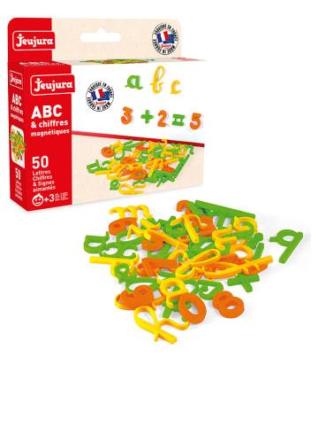 Jeujura Magnetische Kleinbuchstaben & Zahlen - 50 Stück - ab 3 Jahren