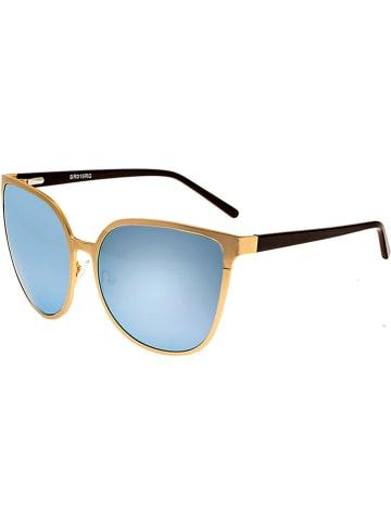 """Bertha Damskie okulary przeciwsłoneczne """"Ophelia"""" w kolorze złoto-niebieskim"""