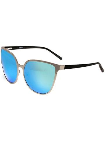"""Bertha Damskie okulary przeciwsłoneczne """"Ophelia"""" w kolorze srebrno-niebieskim"""