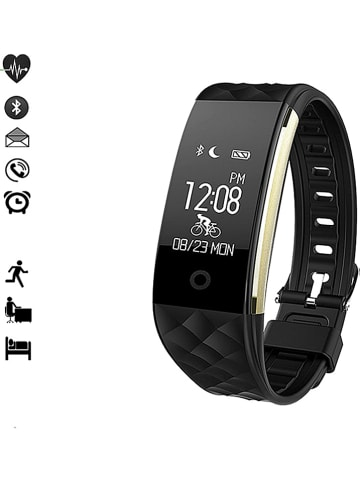 WHIPEARL Smartwatch zwart/goudkleurig