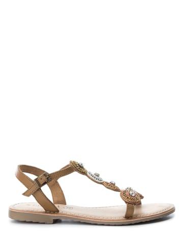 CARMELA Leren sandalen - camel