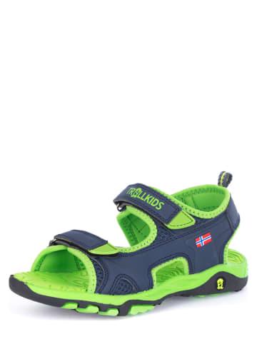 """Trollkids Sandały """"Orrestrand"""" w kolorze niebiesko-zielonym"""