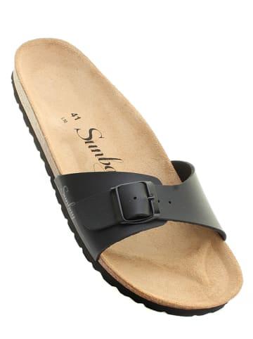 "Sunbay Slippers ""Jasmin"" zwart"