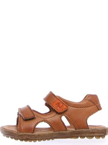 Naturino Skórzane sandały w kolorze jasnobrązowym