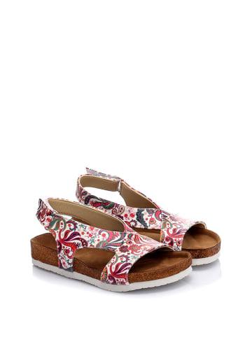 Cella Sandalen wit/roze/meerkleurig