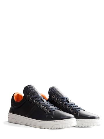 """NoGRZ Leder-Sneakers """"G. Devey"""" in Dunkelblau"""