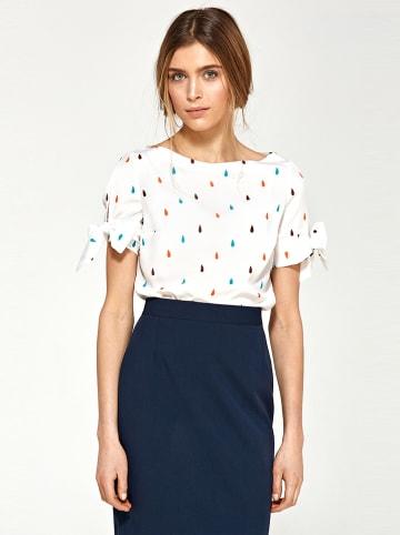 Nife Bluzka w kolorze kremowym ze wzorem