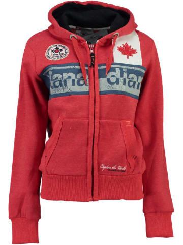 """Canadian Peak Sweatvest """"Flashy"""" rood"""