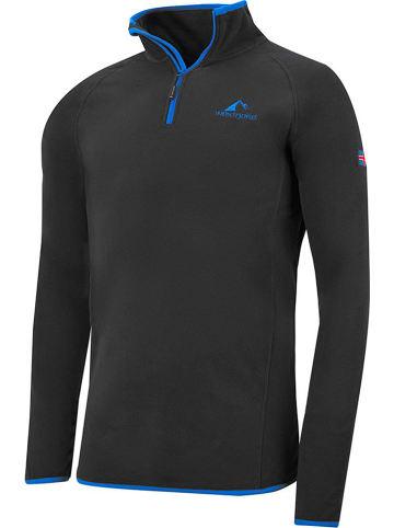 "Westfjord Fleece trui ""Hekla"" antraciet/blauw"