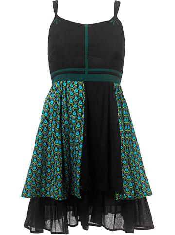 KÉAWA Sukienka w kolorze czarno-zielonym