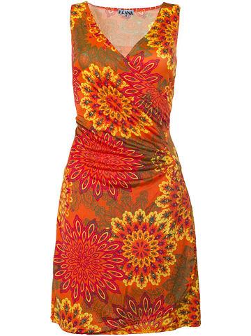 KÉAWA Sukienka w kolorze pomarańczowo-żółtym