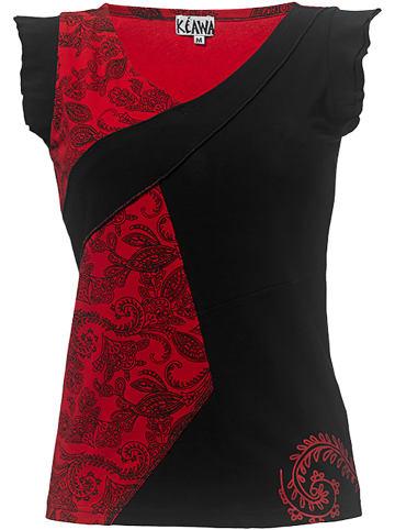 KÉAWA Koszulka w kolorze czerwono-czarnym