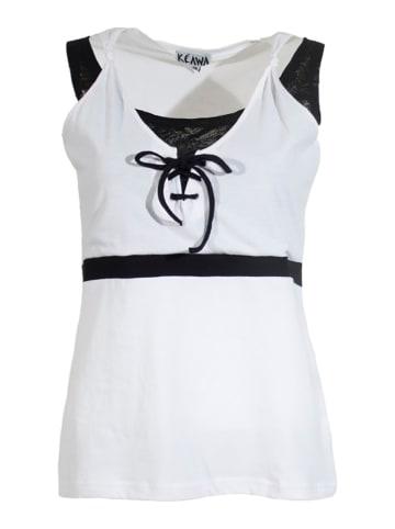 KÉAWA Top w kolorze biało-czarnym