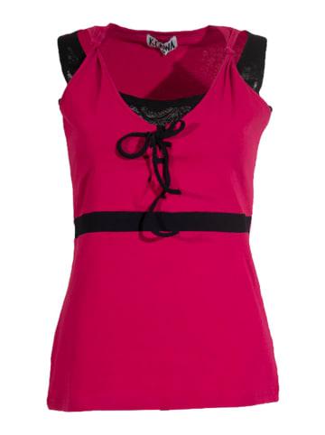KÉAWA Top w kolorze różowo-czarnym
