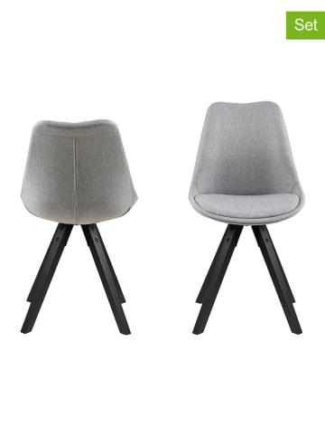 """AC Design Krzesła (2 szt.) """"Dima"""" w kolorze szarym - 48,5 x 85 x 55 cm"""