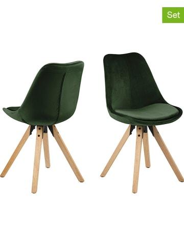 """AC Design 2-delige set: eetkamerstoelen """"Dima"""" groen - (B)48,5 x (H)85 x (D)55 cm"""