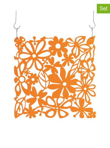 """Koziol 4-delige set: roomdivider-elementen """"Alice"""" oranje - (L)27 x (B)27 cm"""