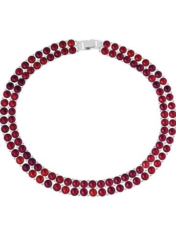 Pearline Perlen-Halskette in Rot - (L)40 cm