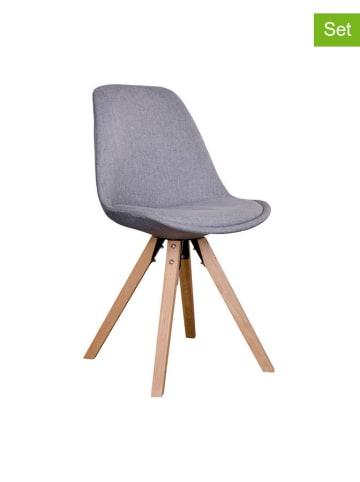 House Nordic Krzesło (2 szt.) w kolorze szarym - (S)55 x (W)86 x (G)48 cm