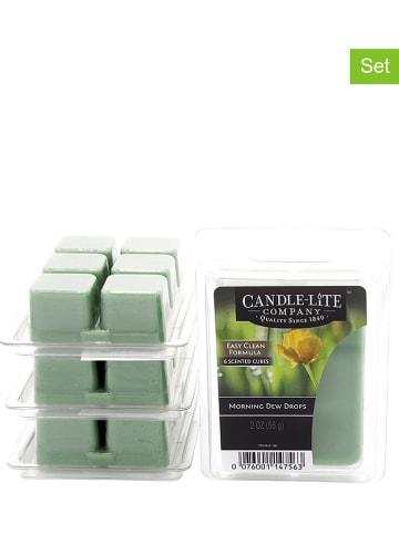 CANDLE-LITE Wosk zapachowy (2 opakowania) w kolorze zielonym w kostkach - 2 x 56 g