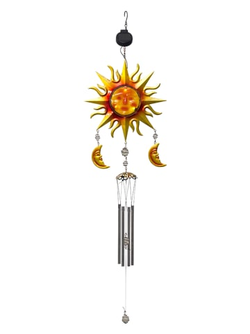 """Best Season LED-Solar-Windspiel """"Windy"""" in Rot/ Gelb - (H)95 cm"""