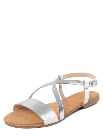 Lionellaeffe Skórzane sandały w kolorze srebrnym