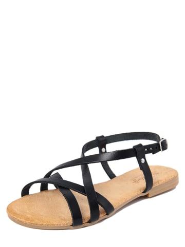 Lionellaeffe Skórzane sandały w kolorze czarnym