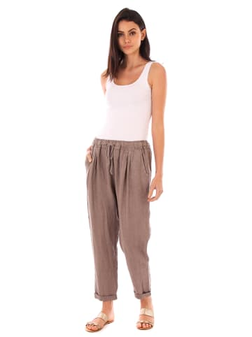 Lin Passion Linnen broek taupe
