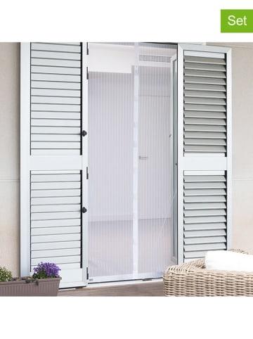 InnovaGoods Moskitiera magnetyczna (2 szt.) w kolorze białym na drzwi - (S)49,5 x (W)209 cm
