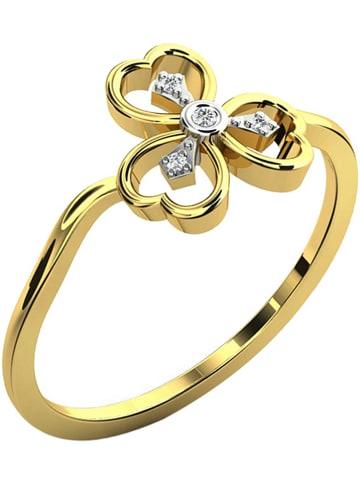 Vittoria Jewels Złoty pierścionek z diamentami