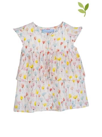 Serendipity Sukienka w kolorze białym ze wzorem