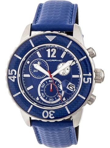 """Morphic Chronograaf """"M51 Series"""" blauw/zilverkleurig"""