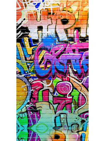 """Good Morning Strandtuch """"Graffitti"""" in Bunt"""