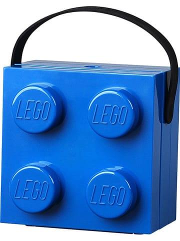 "LEGO Lunchbox ""Brick 4"" donkerblauw - (B)16,5 x (H)11,6 x (D)17,3 cm"