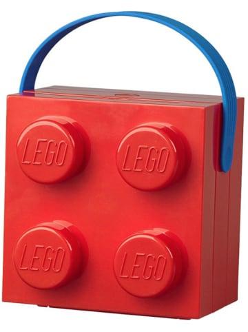 "LEGO Lunchbox ""Brick 4"" rood - (B)16,5 x (H)11,6 x (D)17,3 cm"