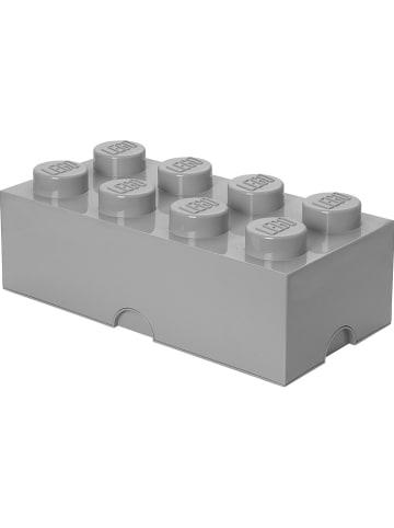 """LEGO Pojemnik """"Brick 8"""" w kolorze szarym - 50 x 18 x 25 cm"""