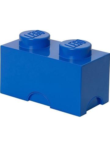 """LEGO Pojemnik """"Brick 2"""" w kolorze granatowym - 25 x 18 x 12,5 cm"""