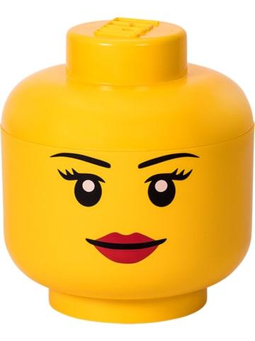 """LEGO Pojemnik """"Girl"""" w kolorze żółtym - wys. 27,1 x Ø 24 cm"""