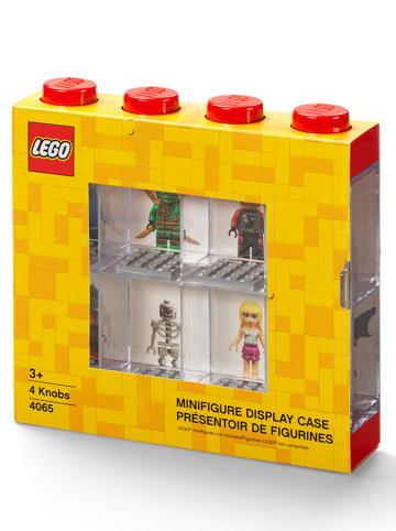 LEGO Vitrine voor figuren rood - (B)19,1 x (H)18,4 x (D)4,7 cm