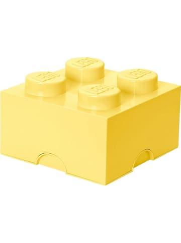 """LEGO Pojemnik """"Brick 4"""" w kolorze jasnożółtym - 25 x 18 x 25 cm"""