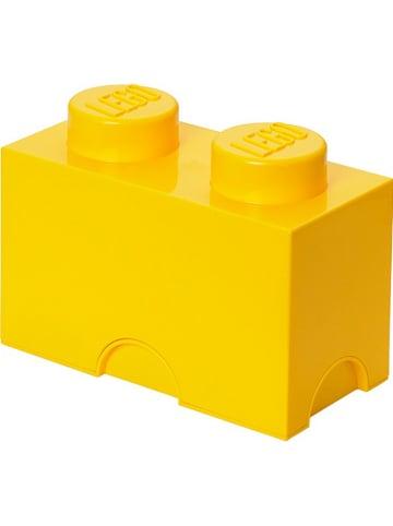 """LEGO Pojemnik """"Brick 2"""" w kolorze żółtym - 25 x 18 x 12,5 cm"""