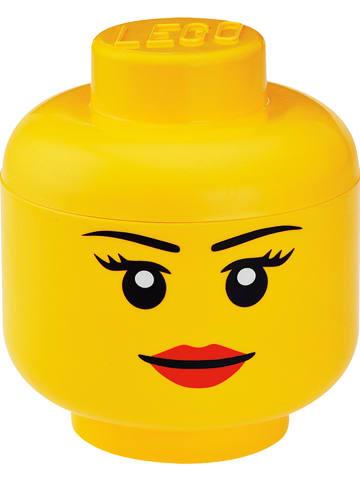 """LEGO Opbergbox """"Girl"""" geel - (H)18,5 x Ø 16 cm"""