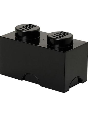 """LEGO Pojemnik """"Brick 2"""" w kolorze czarnym - 25 x 18 x 12,5 cm"""