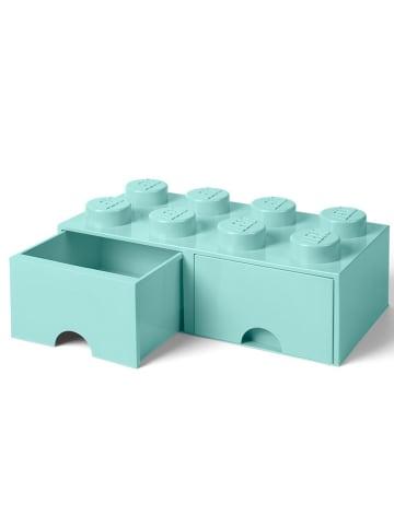"""LEGO Schubladenbox """"Brick 8"""" in Hellblau - (B)50 x (H)18 x (T)25 cm"""
