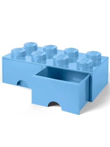 """LEGO Schubladenbox """"Brick 8"""" in Blau - (B)50 x (H)18 x (T)25 cm"""