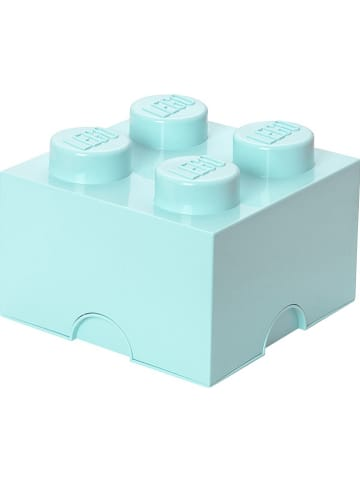 "LEGO Opbergbox ""Brick 4"" lichtblauw - (B)25 x (H)18 x (D)25 cm"