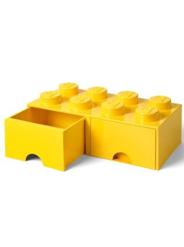 "LEGO Schubladenbox ""Brick 8"" in Gelb - (B)50 x (H)18 x (T)25 cm"