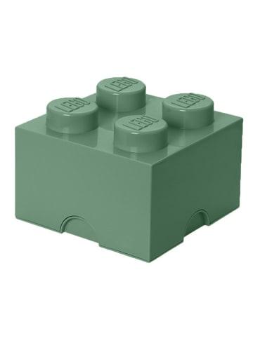 "LEGO Aufbewahrungsbox ""Brick 4"" in Graugrün - (B)25 x (H)18 x (T)25 cm"